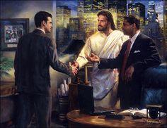 Between businessmen