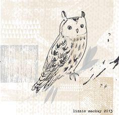 quick owl study by Lizzie Mackay 2013
