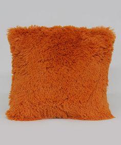 Love this Orange Shagalicious Throw Pillow by Brentwood Originals on #zulily! #zulilyfinds