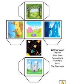 Printable Story Cubes