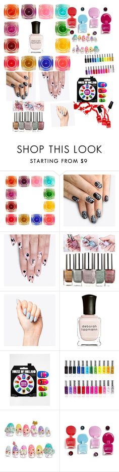 """holiday nail art"" by samarjawaid ❤ liked on Polyvore featuring beauty, alfa.K, Deborah Lippmann, eylure and Shany"