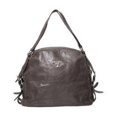 0fa7cde0d0c3 Labellov Vintage Prada Bandoliera Anthracite Saffiano Shoulder Bag ○ Buy  and Sell Authentic Luxury