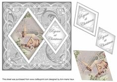 Christmas Day Rejoice at Christmas 7in Double Diamond Topper on Craftsuprint - View Now!