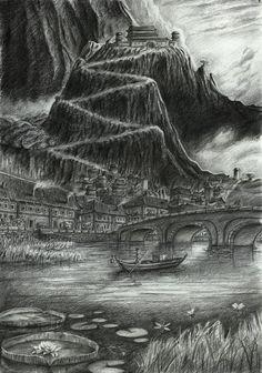 """Ilustração inspirada no livro """" A marca de Atena"""", de Rick Riordan."""