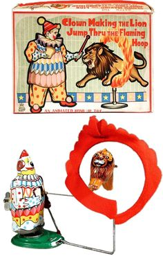 TPS, Clown Making The Lion Jump Through Flaming Hoop