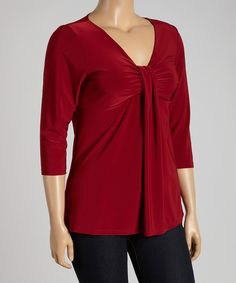 Love this Ruby Three-Quarter Sleeve Top - Plus by Avital on #zulily! #zulilyfinds