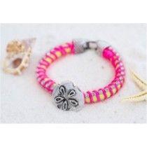 Neon Sand Dollar Bracelet
