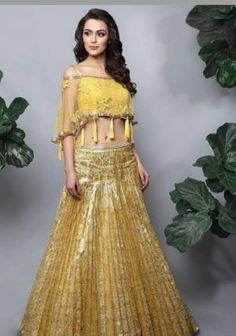 100 Latest Designer Wedding Lehenga Designs for Indian Bride LooksGud.in Blouse Lehenga, New Lehenga Choli, Bridal Lehenga, Anarkali, Yellow Lehenga, Lehenga Skirt, Indian Gowns Dresses, Indian Fashion Dresses, Indian Designer Outfits