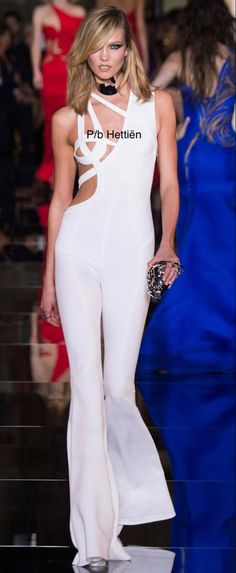 Karlie Kloss, Cannes, Monaco, Runway Fashion, Sassy, Versace, Cocktail, Jumpsuit, France
