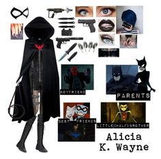 """""""*Bat Family: Alicia K. Wayne*"""" by blissfull-darkness on Polyvore featuring Wolford, Alice + Olivia, Joie, INC International Concepts, Valentino and SELINA"""