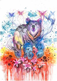 Expressive Watercolor Illustrations by Jongkie Art  www.artpeoplegallery.com #artpeople