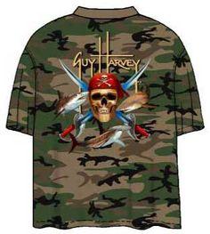 0670e5852ce6 Guy Harvey Shirts - Guy Harvey Pirate Shark Camoflage Men s Back-Print Tee