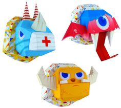 Bad Mutant Head Paper Toys Will Look Super Cool On Your Walls