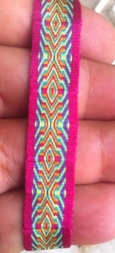 Tribal bracelet -  Woven bracelet -  Card weaving bracelet 05