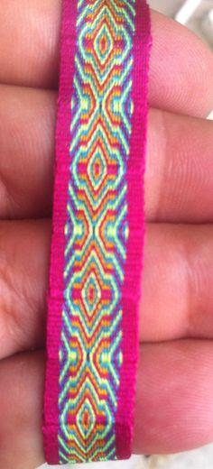 Tribal bracelet -  Woven bracelet -  Card weaving bracelet 05