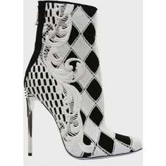 Balmain Boots Suede Guipure Metal Heel ($1,370) ❤ liked on Polyvore
