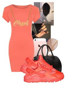"""""""Alexis again"""" by arii-bankss ❤ liked on Polyvore featuring H&M, Forever 21, WearAll and NIKE"""