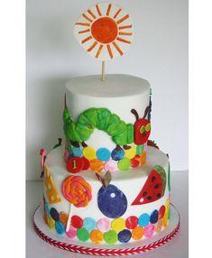 Very Hungry Caterpillar Birthday Cake Hungry Caterpillar Cake, Cute Cakes, Themed Cakes, Cake Smash, Amazing Cakes, Eat Cake, Cupcake Cakes, Cake Decorating, Birthday Ideas