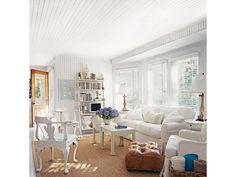 Bright and White Living Room - Home and Garden Design Idea's