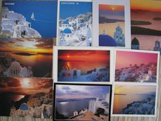 10 Postcards of Santorini Greece2. $10.00