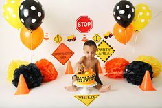 Redlands, CA cake smash photographer