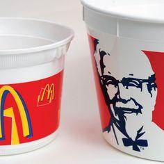 พิมพ์สกรีน ถังไก่ | Screen print McDonald KFC