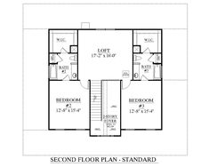 House Plan 2581-A The APPLEWOOD A 2nd floor plan