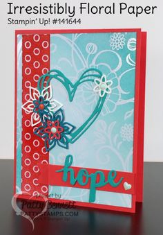 Irresistibly Floral Hope Card with Foam Brayer