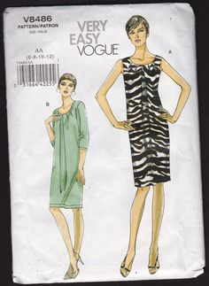 Very Easy Vogue V8486 Misses Front Pleated Dress by OutoftheConex