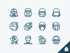 Do we have Star Wars fans over here? I believe this is one of the first Star Wars icon sets featuring new storm-trooper helmets and Kylo. Had so much fun working on it! This set is availab.
