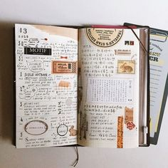 Inspiration for keeping an art journal or travel journal. Ideas for journaling and scrapbooking