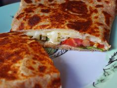 The VegHog: Savoury spelt crêpes with cheese and tomato