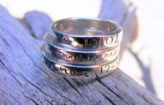 Sterling Silver Stacking Ring Mothers Ring by HelenesDreams, $64.00