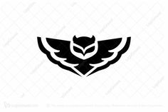 Logo for sale: Owl Logo Buho Logo, Walking Sticks For Sale, Tribal Owl Tattoos, Wolf Tattoo Back, Owl Tattoo Drawings, Tattoo Samples, Wood Badge, Owl Artwork, Animal Stencil
