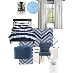 Pre teen room inspiration by remixinginteriors on Polyvore featuring polyvore, interior, interiors, interior design, home, home decor, interior decorating, Anglepoise, Lemnos, Martha Stewart and Wolverine