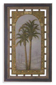 Palms I Framed Painting Print