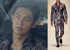 "Lee Jung-Jin 이정진 in ""Temptation"" Episode 7.  Gucci Spring 2014 Collection Jacket #Kdrama #Temptation 유혹 #LeeJungJin"