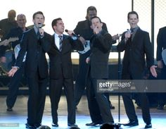 Cast of 'Jersey Boys' (L-R) Daniel Reichard, John Lloyd Young, Christian Hoff and J. Robert Spencer, nominee for Best Musical, perform 'Can't Take My Eyes Off Of You' and 'Who Loves You'