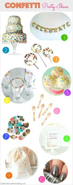 Trent Alert :: Confetti is the New Black - Celebrations at Home Creative Party Ideas, Sprinkle Party, Kids Party Themes, Party Entertainment, Childrens Party, Craft Party, Animal Party, 1st Birthday Parties, Dessert