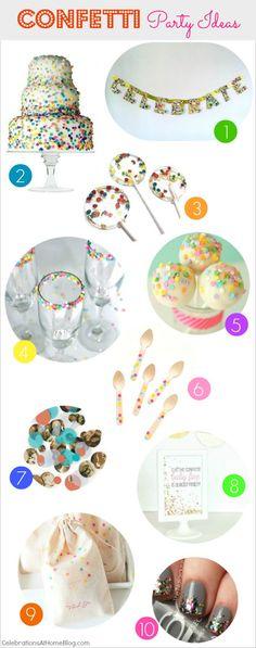 Confetti party ideas #confetti