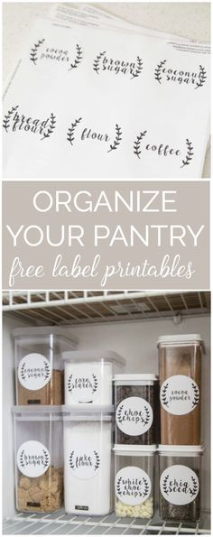 Organize Your Pantry Once And For All With These FREE Pantry Label Printables