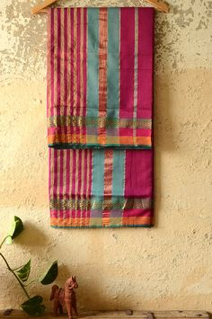As you carry yourself in these hand-woven Maheshwari sarees, the lightness of the fabric soothes you and its balanced vibrance brings you into a new light. When their gazes stop at the arresting array of patterns and the beaming you, you know you are the best version of yourself.  Buy ~ http://shop.gaatha.com/Buy-Online-Maheshwari-sarees