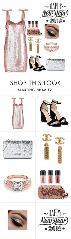 """""""New Year's Eve Party!!"""" by agdancer10 ❤ liked on Polyvore featuring J.Crew, Nasty Gal, Love Moschino, MAC Cosmetics and Cricut"""