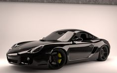 Porsche Cayman Black Widescreen Wallpaper