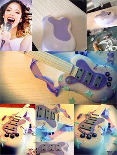Violetta and guitarra cake