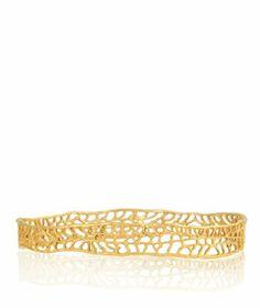 CATHERINE WEITZMAN Wide 18k Gold Coral Bracelet