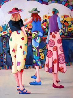 Floral Magnetism ~ by artist Carolee Clark