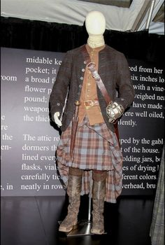 "Jamie Fraser, ""Outlander"" Season 1 ""We wanted Jamie and our Highlanders to reflect the Scottish landscape and to appear as if they had grown up from the earth. Jamie in particular had to be truly as representative as possible of Scotland, and the Highland culture of the 18th century."" -- Costume Designer Terry Dresbach"