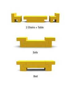 Muebles para ahorrar espacio: 3 en 1