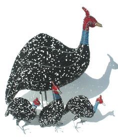 Product of the Day is a Guinea Fowl Family.   A Wire Beaded Guinea Fowl Mom with her three Guinea Fowl Babies.    For more Amazing Wire Beaded Animals click here.http://www.stribal.com/artworks/beaded-artworks/animals-and-creatures.html